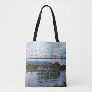 DeepDream Pictures, Boat 002.2 Tote Bag