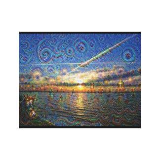 DeepDream Pictures, Landscapes Canvas Print