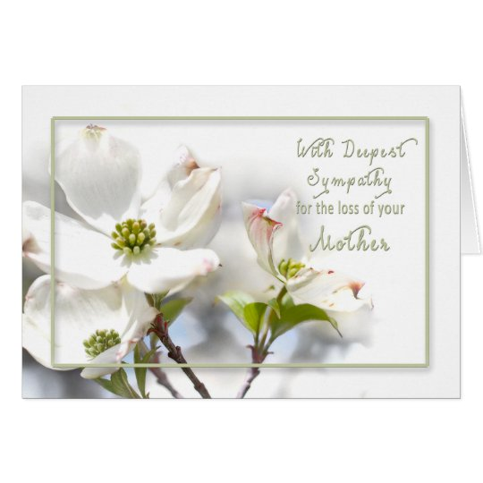 DEEPEST SYMPATHY - APPLE BLOSSOMS-MOTHER CARD