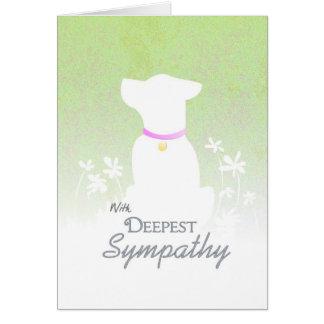 Deepest Sympathy - Dog Sympathy Card