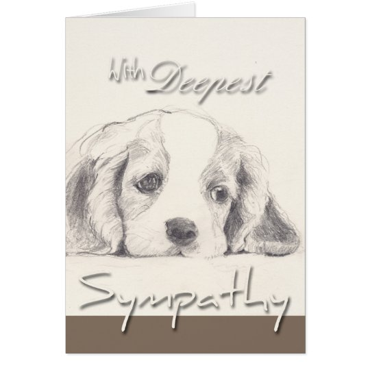 Deepest Sympathy Dog Sympathy Card with Quote