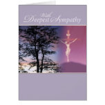Deepest Sympathy, Religious Greeting Card