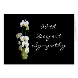 Deepest Sympathy White Orchids Card