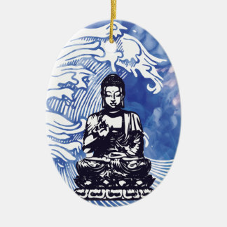 Deepwater Buddha Wave Christmas Ornament