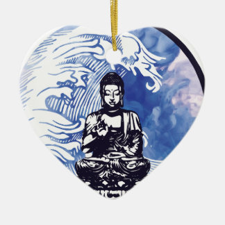 Deepwater Buddha Wave Christmas Ornament