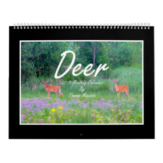 Deer 2018 Monthly Calendar By Thomas Minutolo