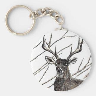 "Deer 2.25"" Basic Button Keychain"