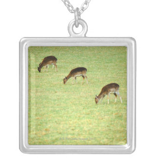 deer 2 silver plated necklace