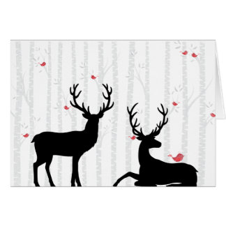 Deer and Birch Tree All Occasion Card