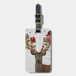 Deer and Love Birds 2 Luggage Tag