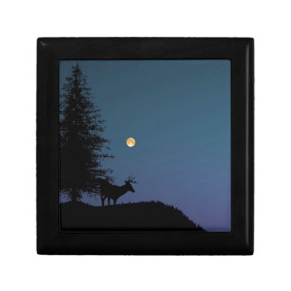 Deer and Moon Silhouette Gift Box