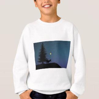 Deer and Moon Silhouette Sweatshirt