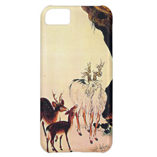 Deer and Mountain Goat Japanese Woodblock Art iPhone 5C Cases
