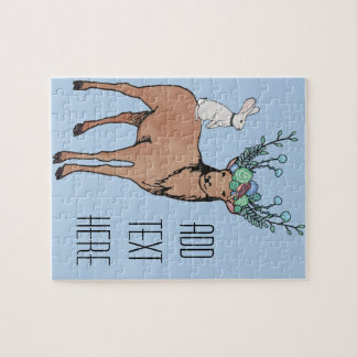 Deer and Rabbit Jigsaw Puzzle