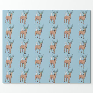 Deer and Rabbit Wrapping Paper