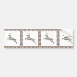 DEER animal CRYSTAL Jewel NVN453 KIDS LARGE  birth Bumper Stickers
