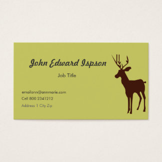 Deer Animal Wildlife Business Card
