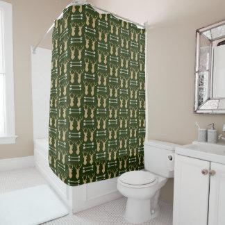 Deer Antler Arrow Pattern Shower Curtain