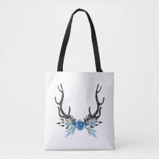 Deer Antler Floral Totebag Tote Bag