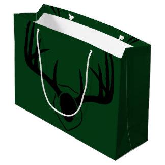 Deer Antler Green Large Gift Bag