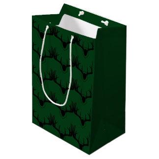 Deer Antler Green Medium Gift Bag