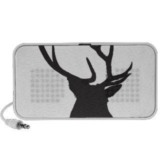 deer antler silhouette laptop speaker