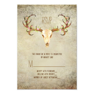 Deer Antler Southwestern Wedding RSVP Card