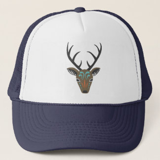 Deer Antler Woodland Wildlife Modern Totem Hat