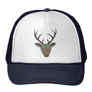 Deer Antler Woodland Wildlife Modern Totem Hat