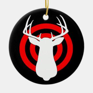 Deer Antlers Bullseye Christmas Ornament