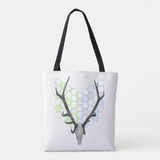 Deer Antlers Geometric Pattern Tote Bag