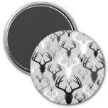 Deer Antlers Skull pattern 7.5 Cm Round Magnet