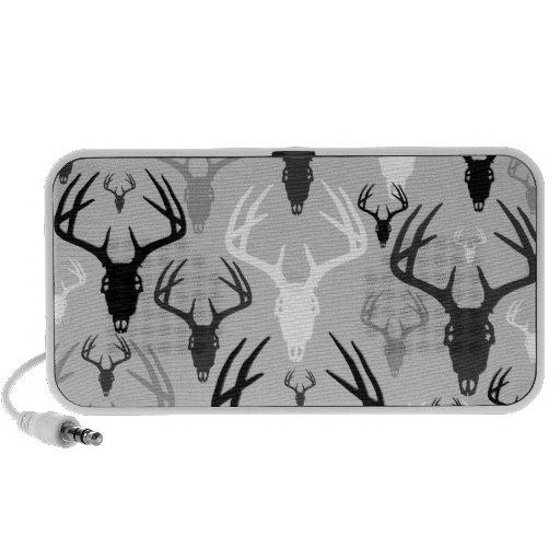 Deer Antlers Skull pattern Portable Speaker