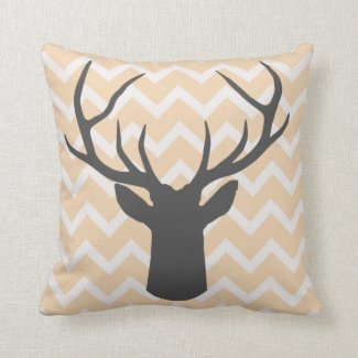 Deer Antlers with butterscotch chevron motifs