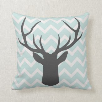 Deer Antlers with mint green chevron motifs