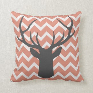 Deer Antlers with salmon pink chevron motifs