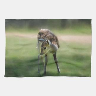 Deer are so sweet tea towel