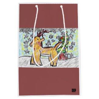 Deer art 2 medium gift bag
