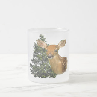 Deer art products frosted glass mug