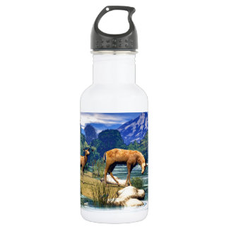 Deer at the River 532 Ml Water Bottle