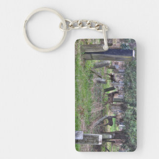 Deer At Zentralfriedhof Double-Sided Rectangular Acrylic Key Ring