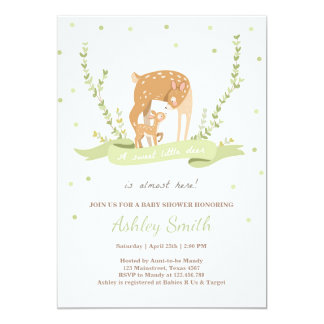 Deer baby shower invitation Woodland Forest animal