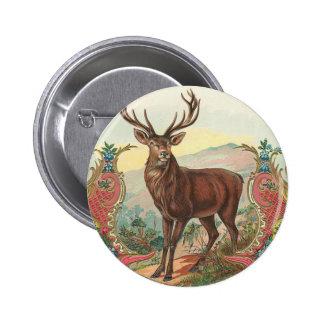 Deer 6 Cm Round Badge