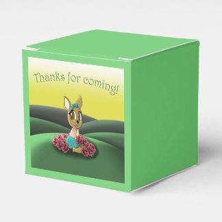 """Deer Birthday Favor Box classic 2x2"" Wedding Favour Box"