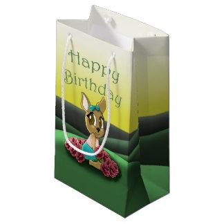 Deer Birthday Gift Bag - Small, Glossy