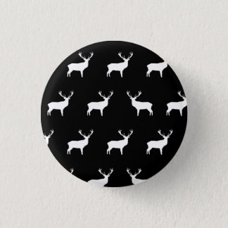 Deer - Black And White Button