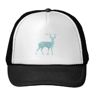 Deer Blue Watercolor Mesh Hats