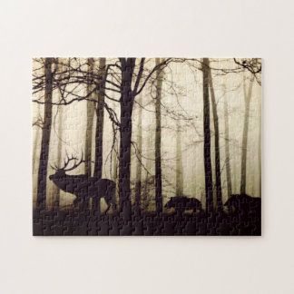 Deer-boars Jigsaw Puzzle