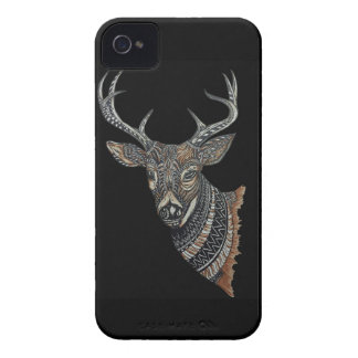 Deer Buck with Intricate Design iPhone 4 Covers