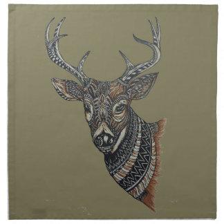 Deer Buck with Intricate Design Napkin